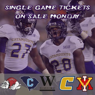 Single Game Tickets go on sale Monday, 8/8 at 9 A.M.
