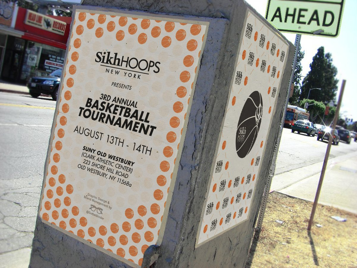 Print design for #SikhHoops.   Join us at #SUNYOldWestbury NEXT WEEKEND!! #basketball #GoGetSinder #graphicdesignpic.twitter.com/lIaUkQJtaf