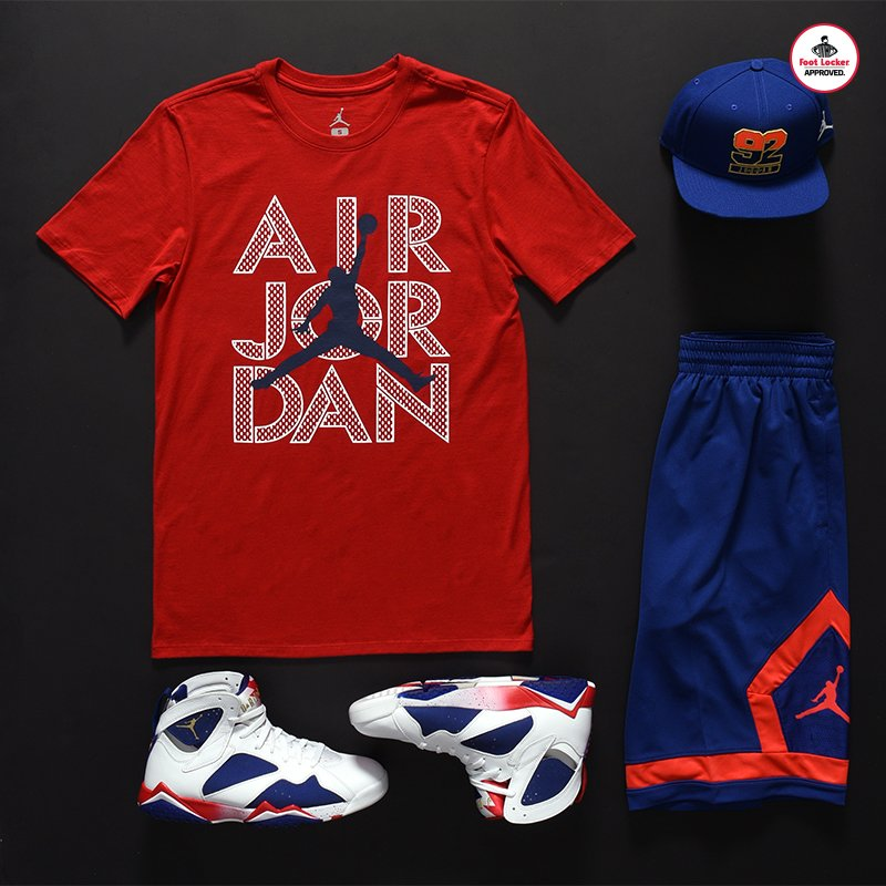 33ecf164afa ... sale the air jordan 7 collection retro 7 frame tee x diamond shorts x  03a80 8c33e