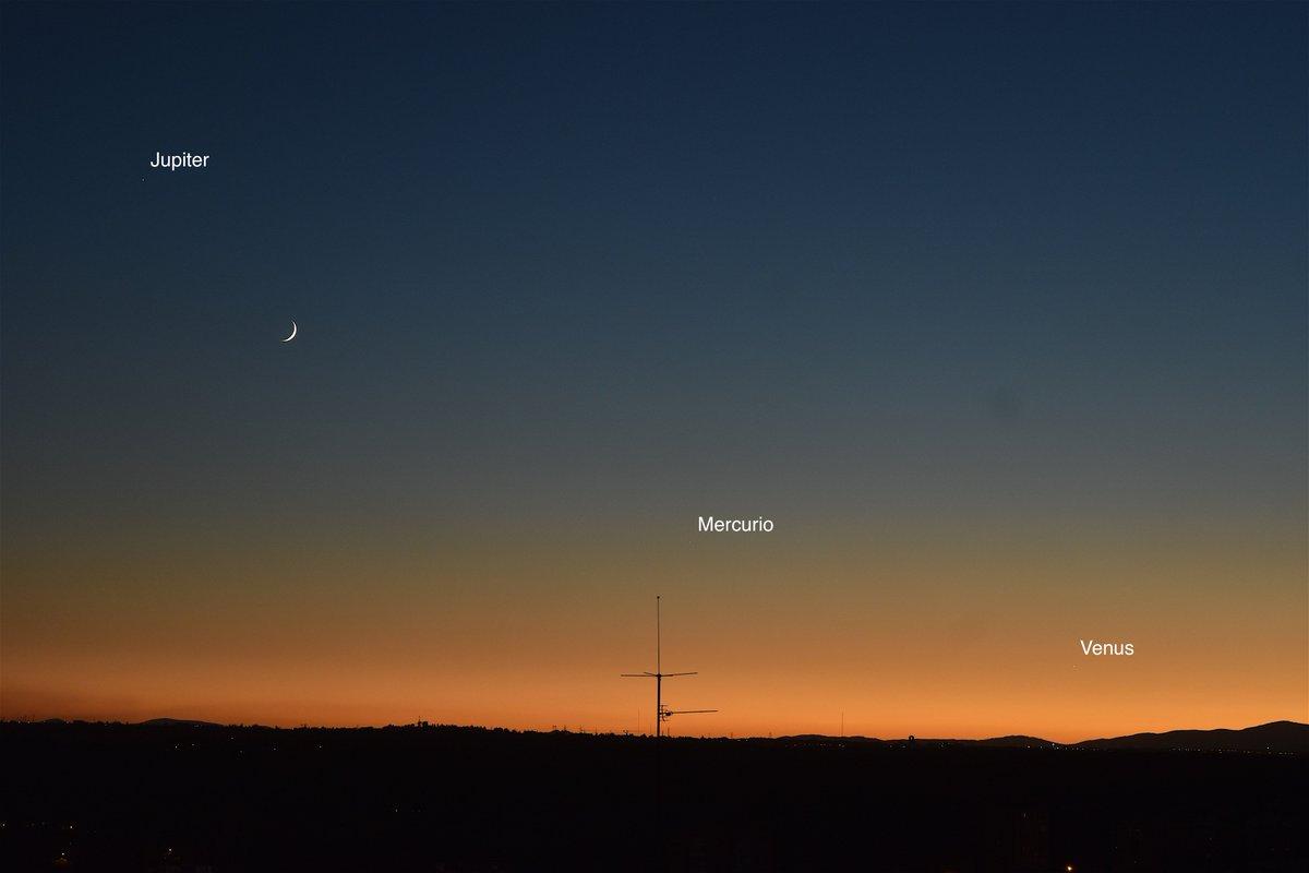 David Montes On Twitter Jupiter La Luna Mercurio Y Venus