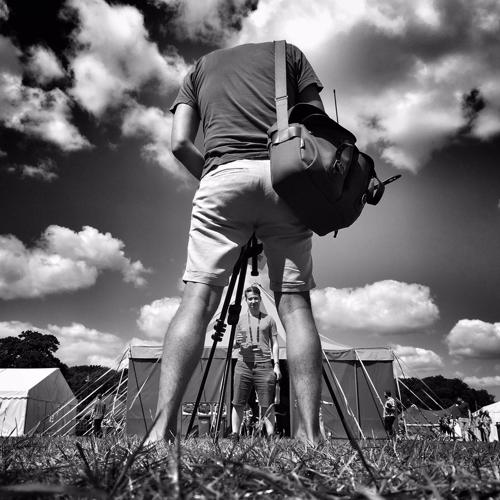 Spot @futureshape at #emfcamp  & you might be lucky enough to get your portrait immortalised on B&W film. https://t.co/7l7FAPlMKc