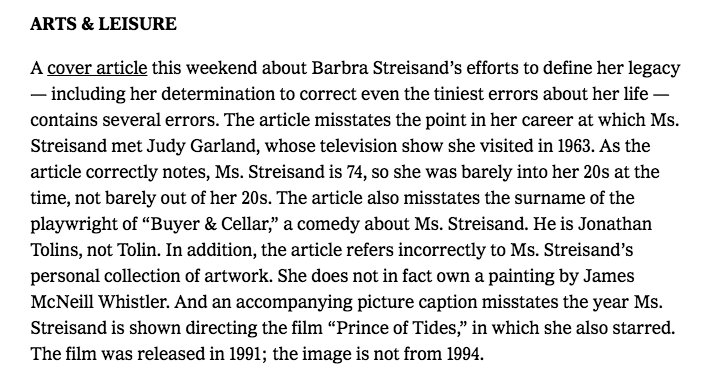 Something makes me think Streisand called the NYTimes after their cover story https://t.co/oiBRBCYmnP