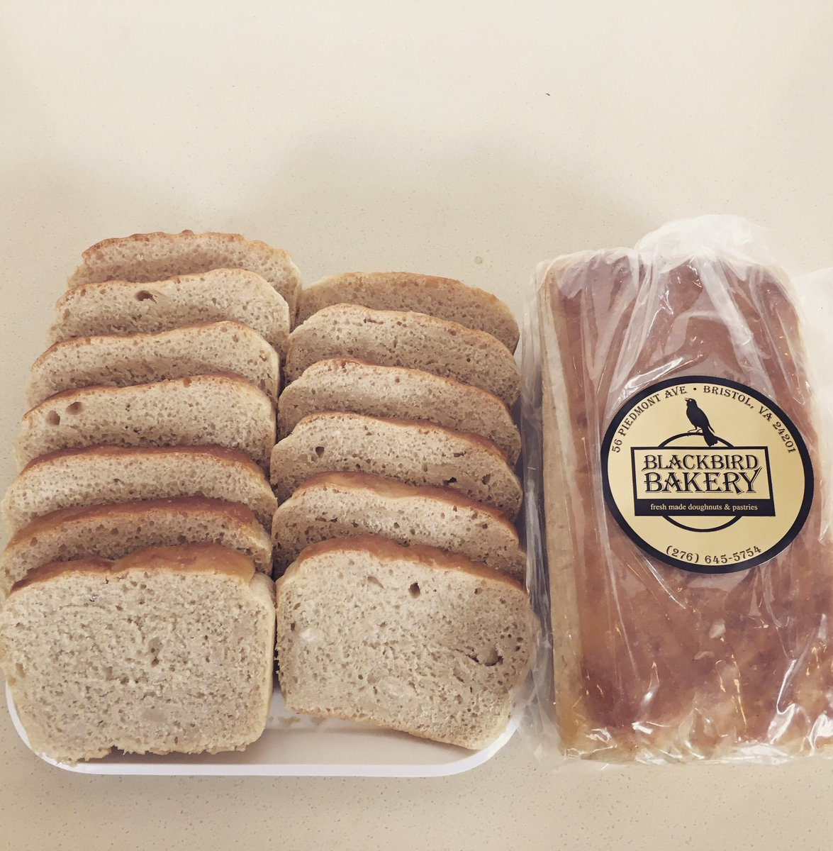 Today only and while supplies last, salt rising bread at Blackbird...