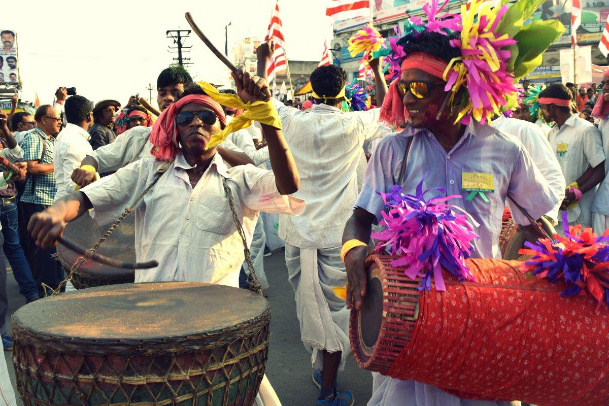 Musicians in Sarhul festival