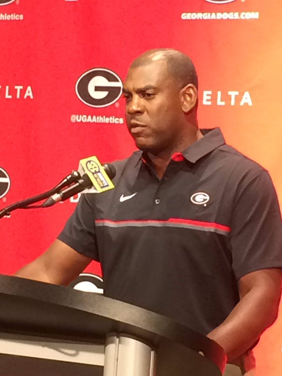 Georgia Defensive Coordinator Mel Tucker, Fan Day presser 2016 (photo by Bulldawg Illustrated)