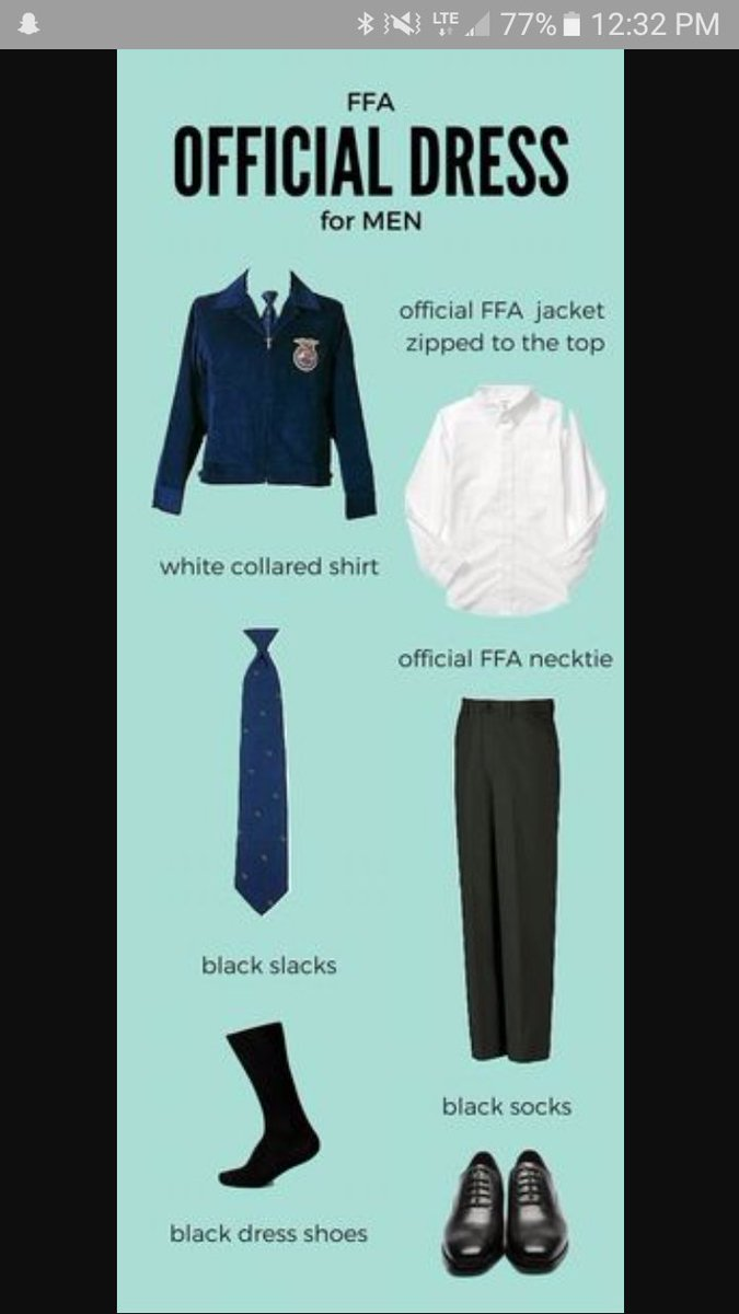 Mens ffa official dress pictures