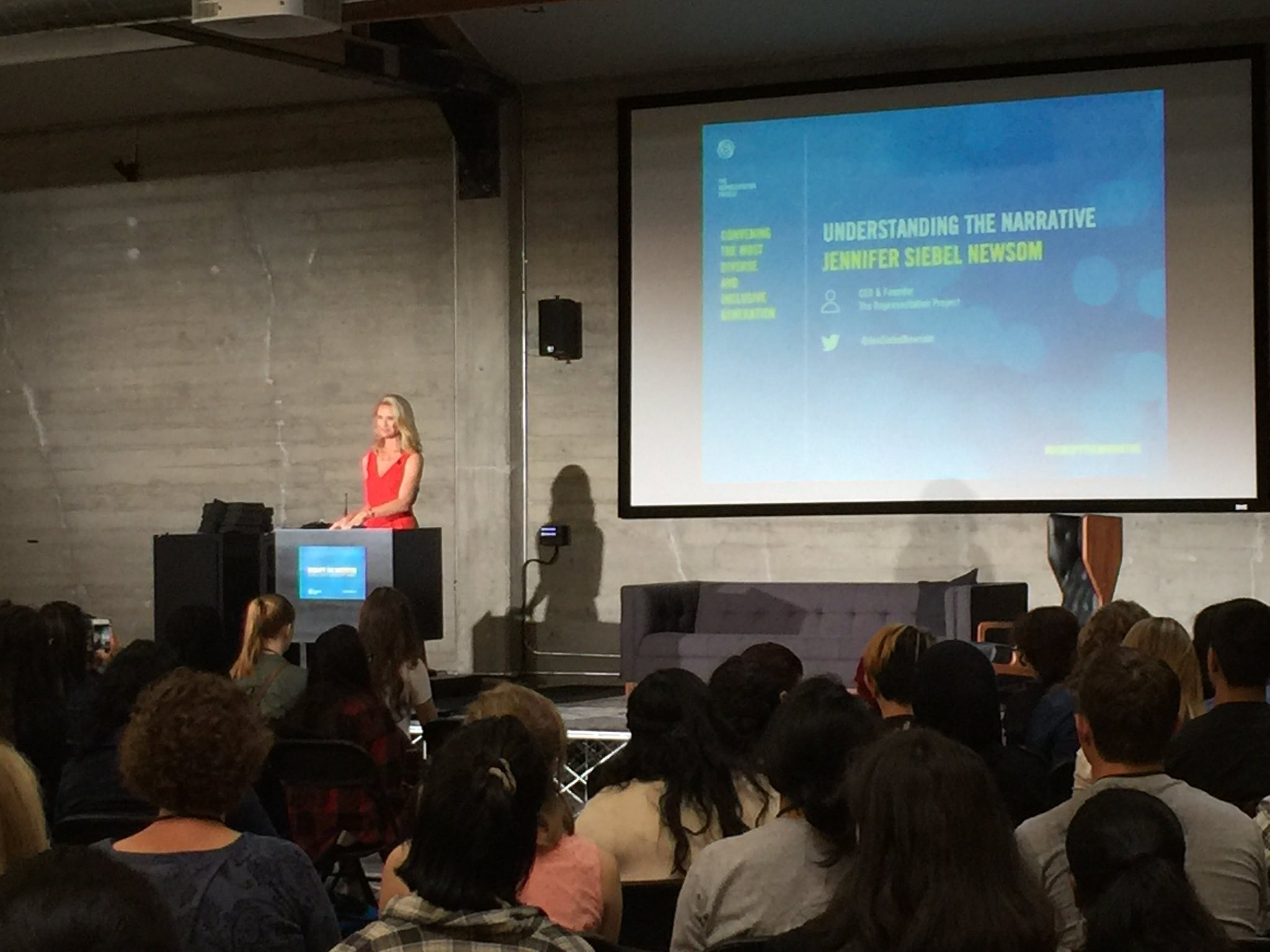 We have the RESPONSIBILITY to speak up & act against gender stereotypes. @JenSiebelNewsom #disruptthenarrative https://t.co/iSzcwilvae