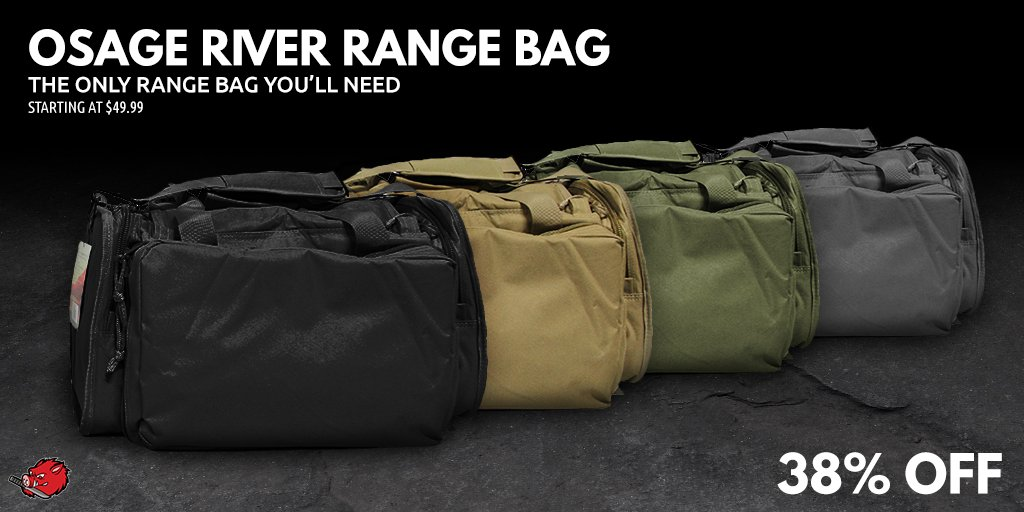 Gear up for your next adventure with a range bag from @Osage_River. Room for your whole arsenal! https://t.co/eaSqhcEWdw