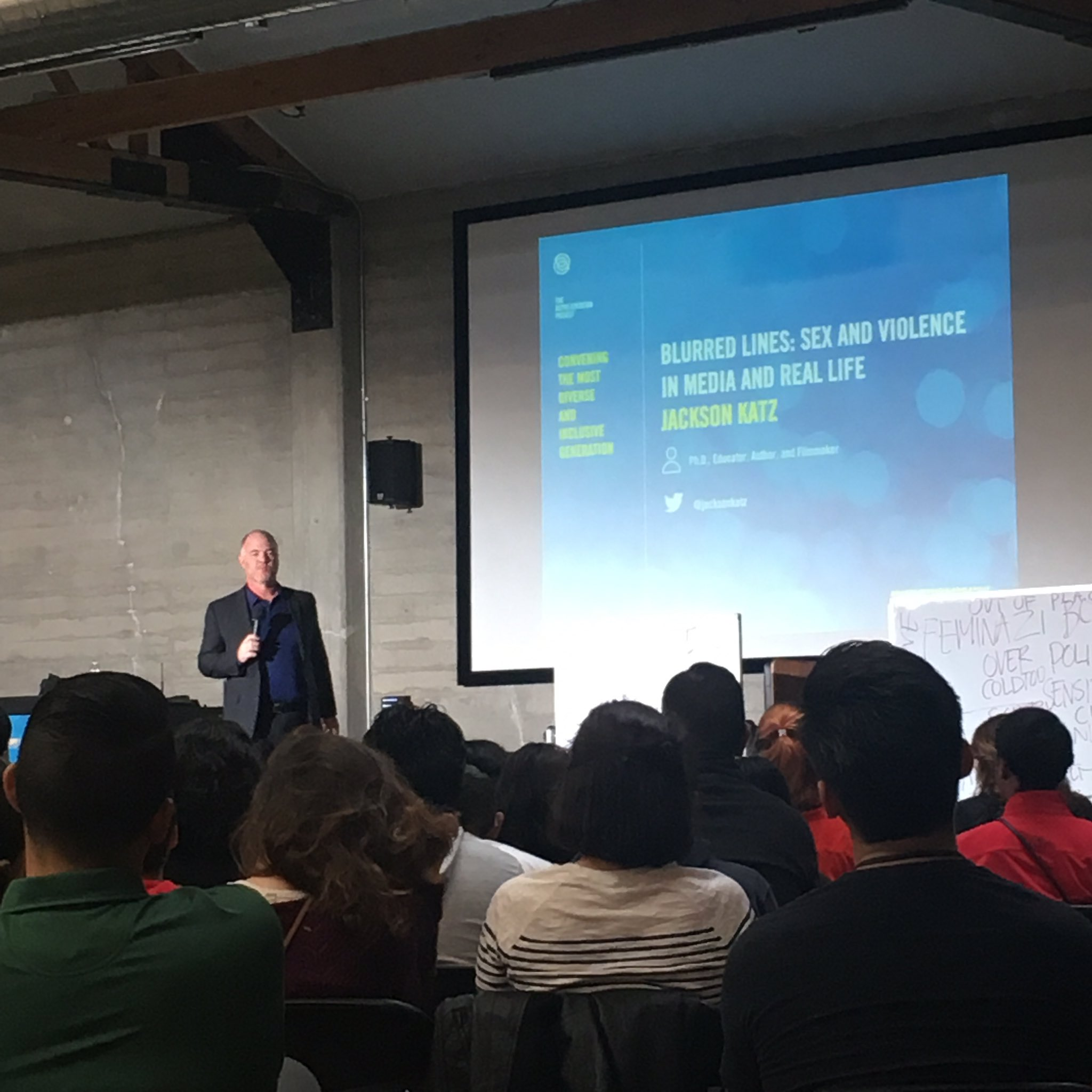 "Right now: @jacksonkatz speaking truth about the word ""feminazi"" @TheRepProject event. #DisruptTheNarrative https://t.co/LyugBSJCVQ"