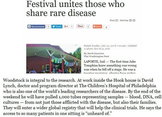 Festival unites those who share rare disease