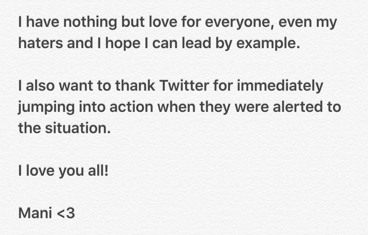 To my fans: