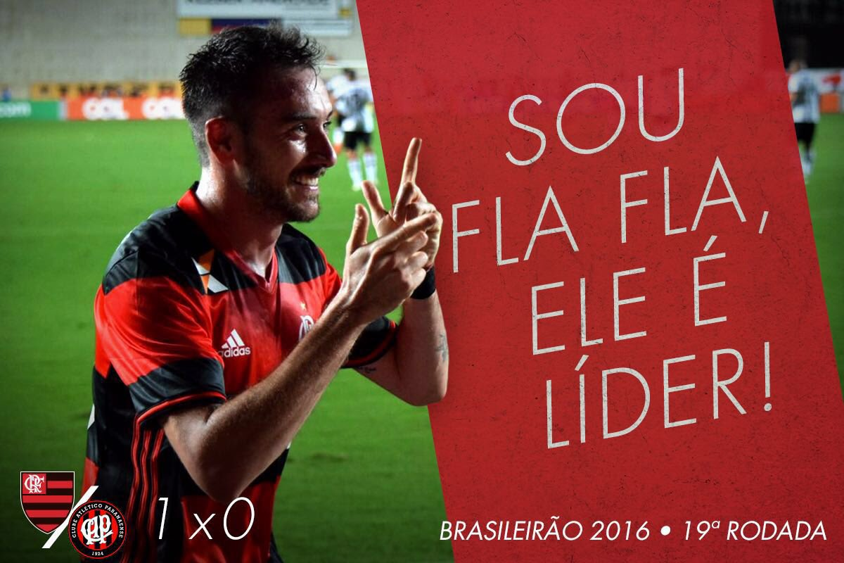 Sou Fla Fla, ele é líder! Mengão derrota o Atlético-PR em Cariacica e dorme na ponta do Brasileirão #SouFlaFla