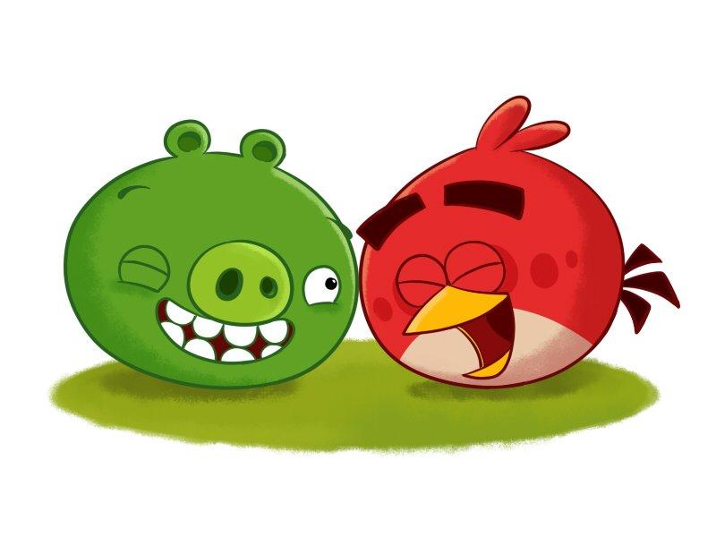 Картинки злых птиц и свиней