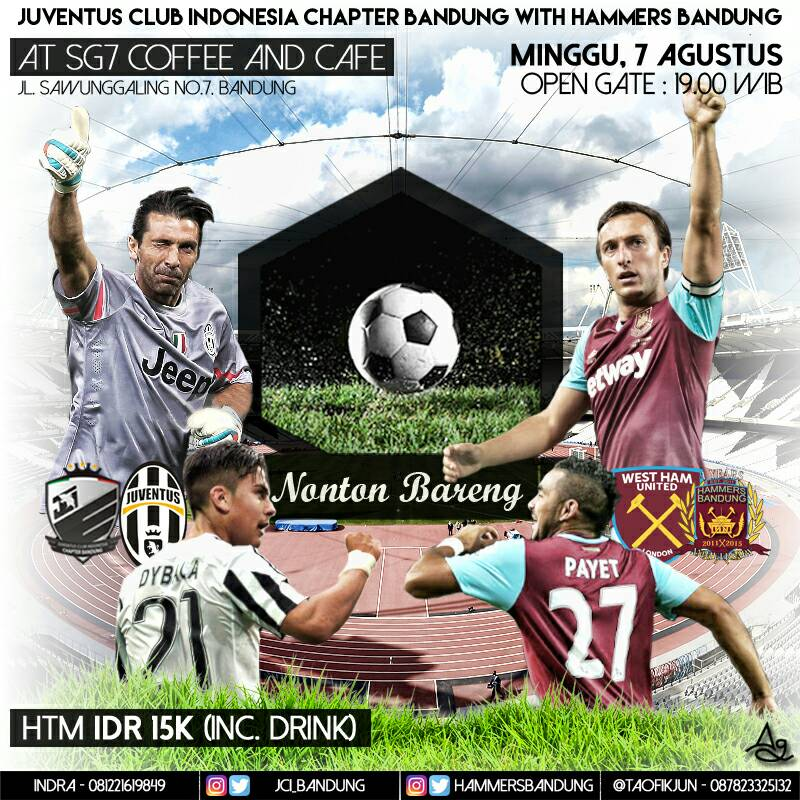 WEST HAM JUVENTUS Streaming Rojadirecta: dove la Diretta Video Live gratis TV Betway Cup 07-08-2016