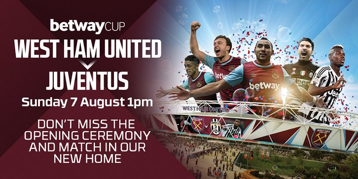 Diretta West Ham JUVENTUS Streaming Rojadirecta: come vedere Video TV gratis con iPhone Tablet e PC Live Oggi domenica 7 agosto 2016