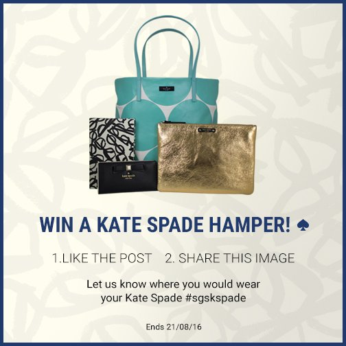 *WIN A KATE SPADE HAUL* Like & Share this post OR comment where you'd wear your Kate Spade #sgskspade #sunglasses https://t.co/NAajrubvX6