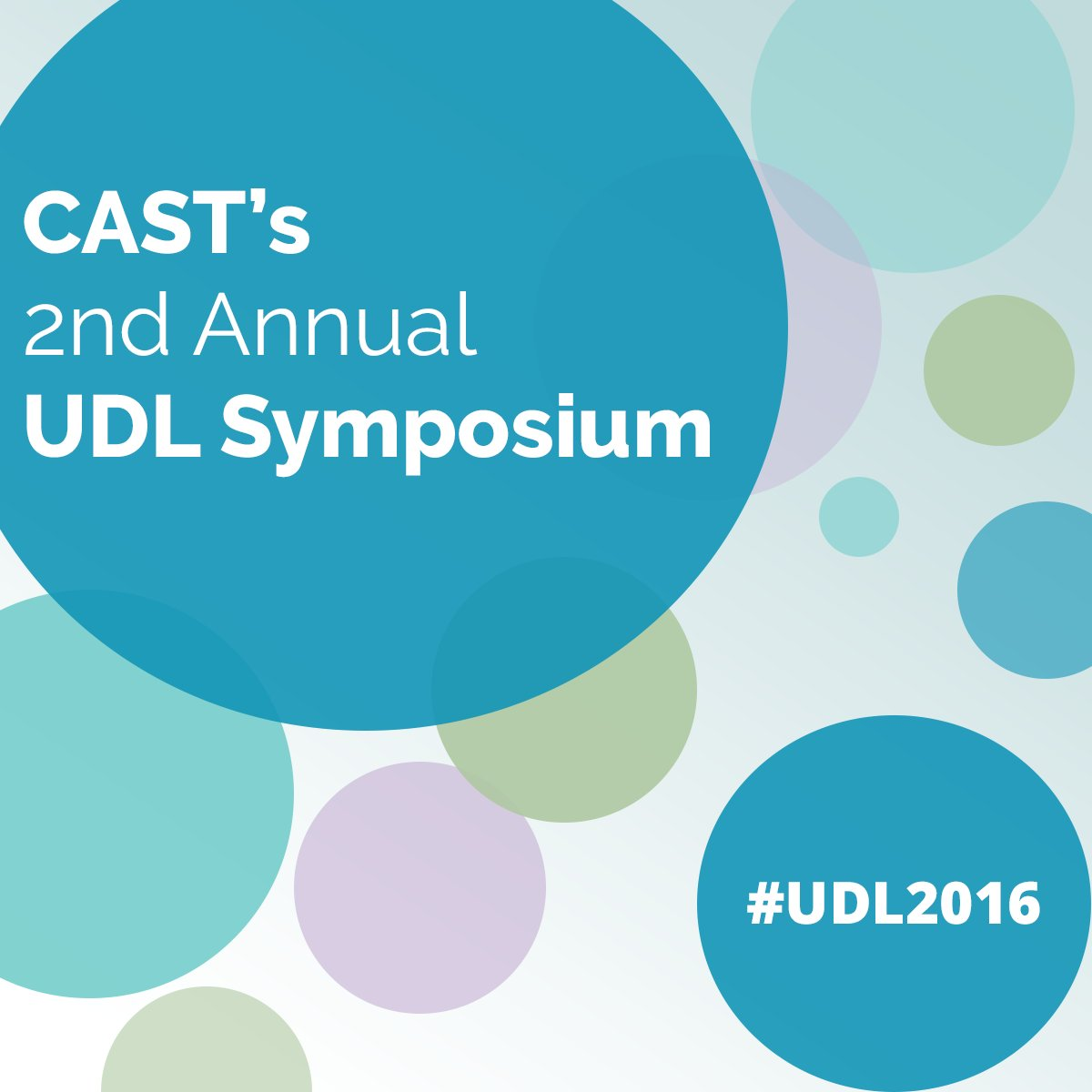 CAST's #UDL Symposium starts tomorrow! Follow along using the hashtag #UDL2016. https://t.co/ZOfHP6IDvR https://t.co/MdYGS6zZTb