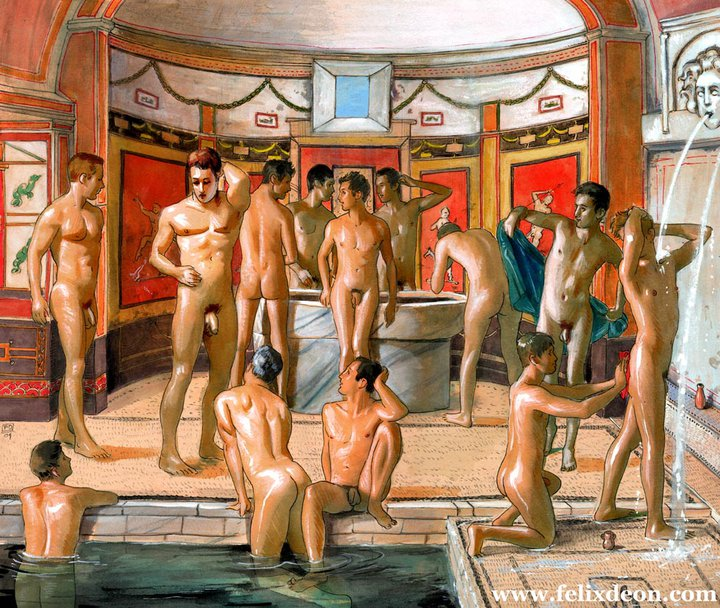 Roman bath houses gay