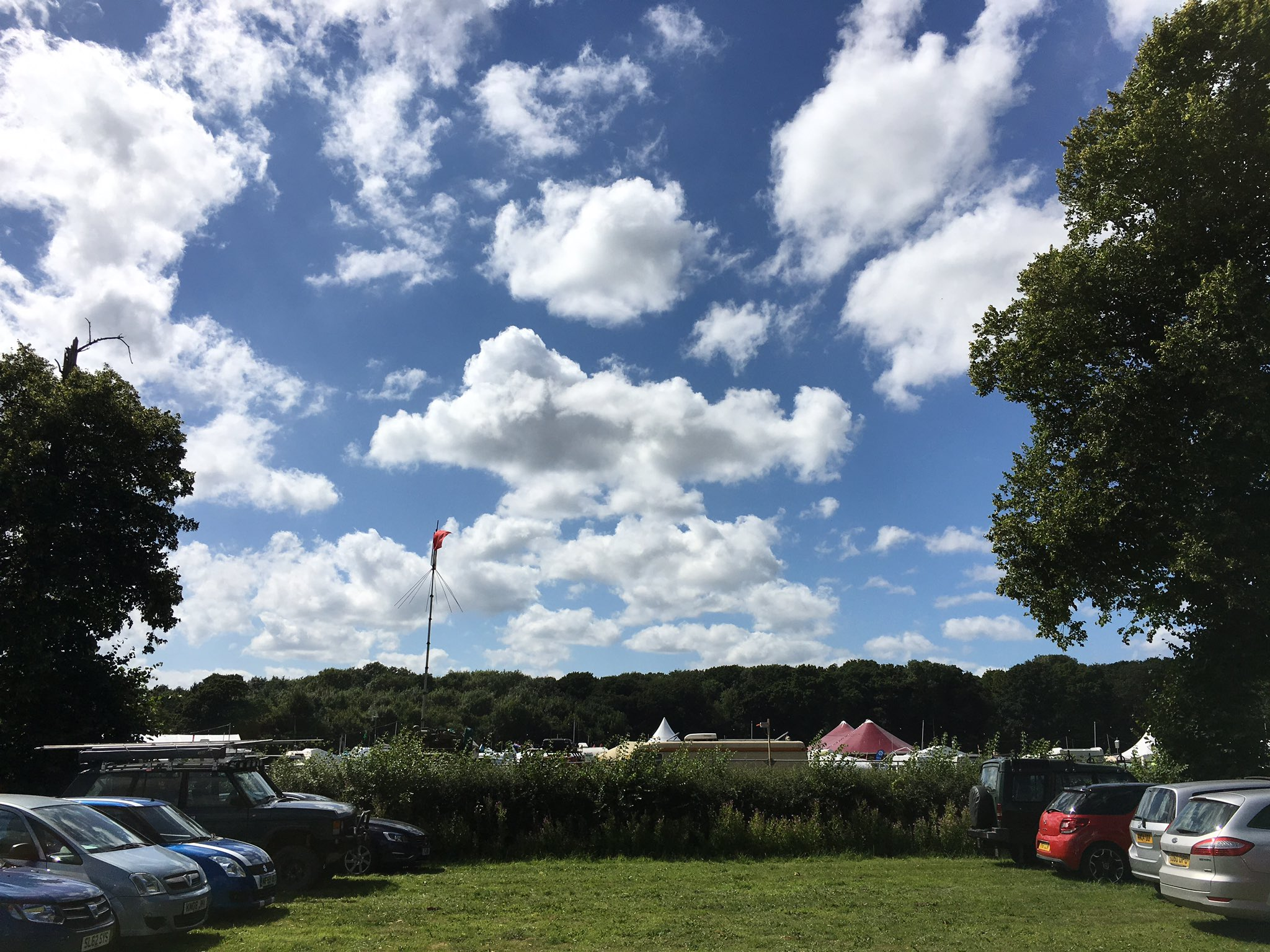 Leaving #emfcamp under glorious skies. See you in two years! https://t.co/9zwB7dUbTK