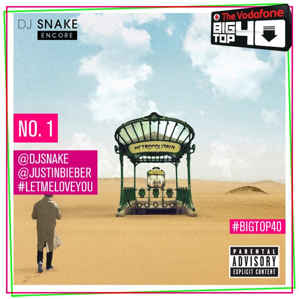 Congrats @djsnake & @justinbieber! #LetMeLoveYou is the NEW UK No.1 on the #BigTop40! ❤️