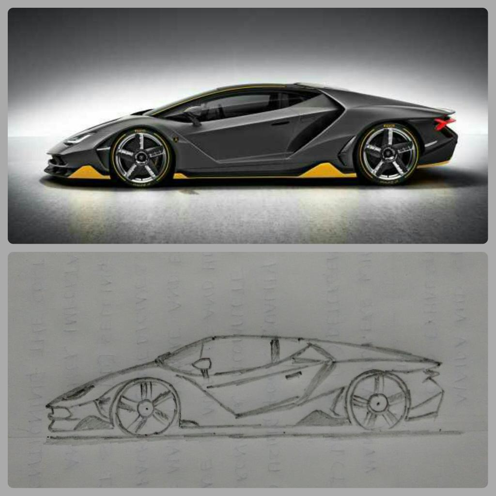 Lamborghini On Twitter Challenge Try To Sketch The Centenario