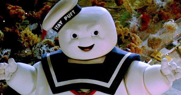 26 Most Unwanted Fictional Characters In The Real World The Stay Puft Marshmallow Man appears as a giant, lumbering paranormal monster in The Ghostbusters.