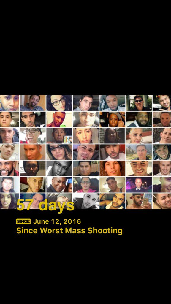 57 days since the worst mass shooting in America and still no action. #DisarmHate #TakeAction https://t.co/iyGfVKIFIK