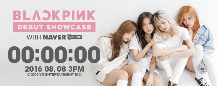 [BLACKPINK - 'DEBUT SHOWCASE' V LIVE COUNTER] originally posted by https://t.co/XZQ3IOI9MY #3PM #20160808 #DDAY #YG