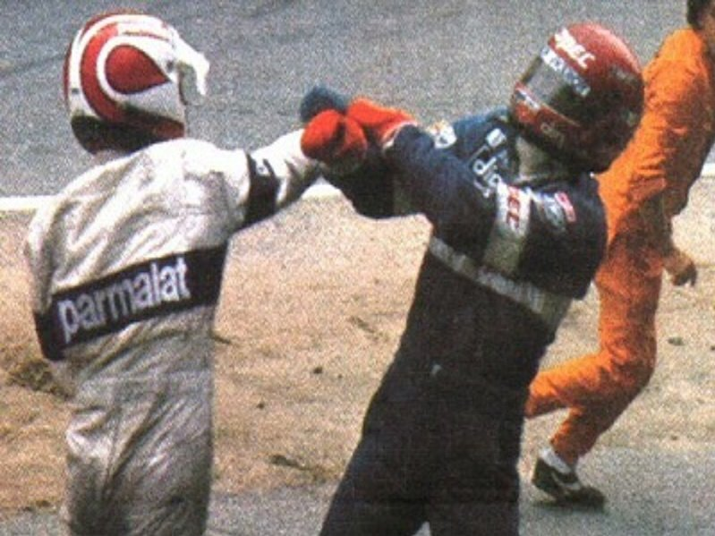 #OnThisDay '82 Nelson Piquet @BrabhamOfficial led the #GermanGP but collided with Eliseo Salazar while lapping him🥊👊 https://t.co/9A7Xf7ca7F