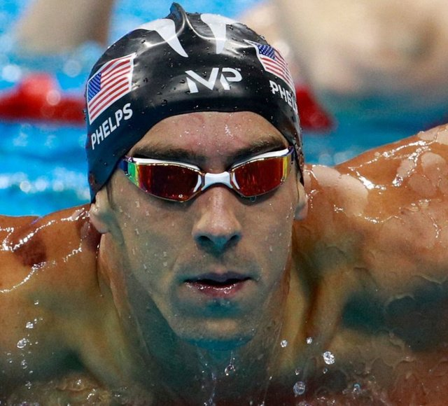 Michael Phelps Own Logo On His Swim Cap Tonight He Filed To