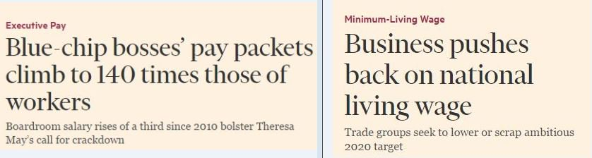Lots of FT readers noting the juxtaposition of these two stories today... https://t.co/BSeDInvu5G