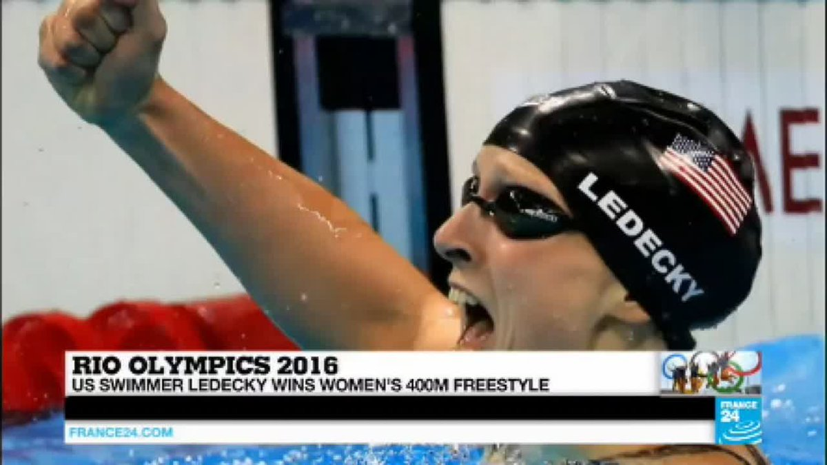 VIDEO -  Rio 2016: US swimmer Ledecky wins 400m freestyle, US clinches men's 4x100m…