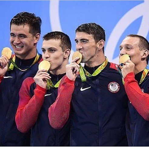 We did it!!!! I have dreamt of being on a gold medal winning 4x100 freestyle relay since I can remember and these t… https://t.co/cFClthfvOk