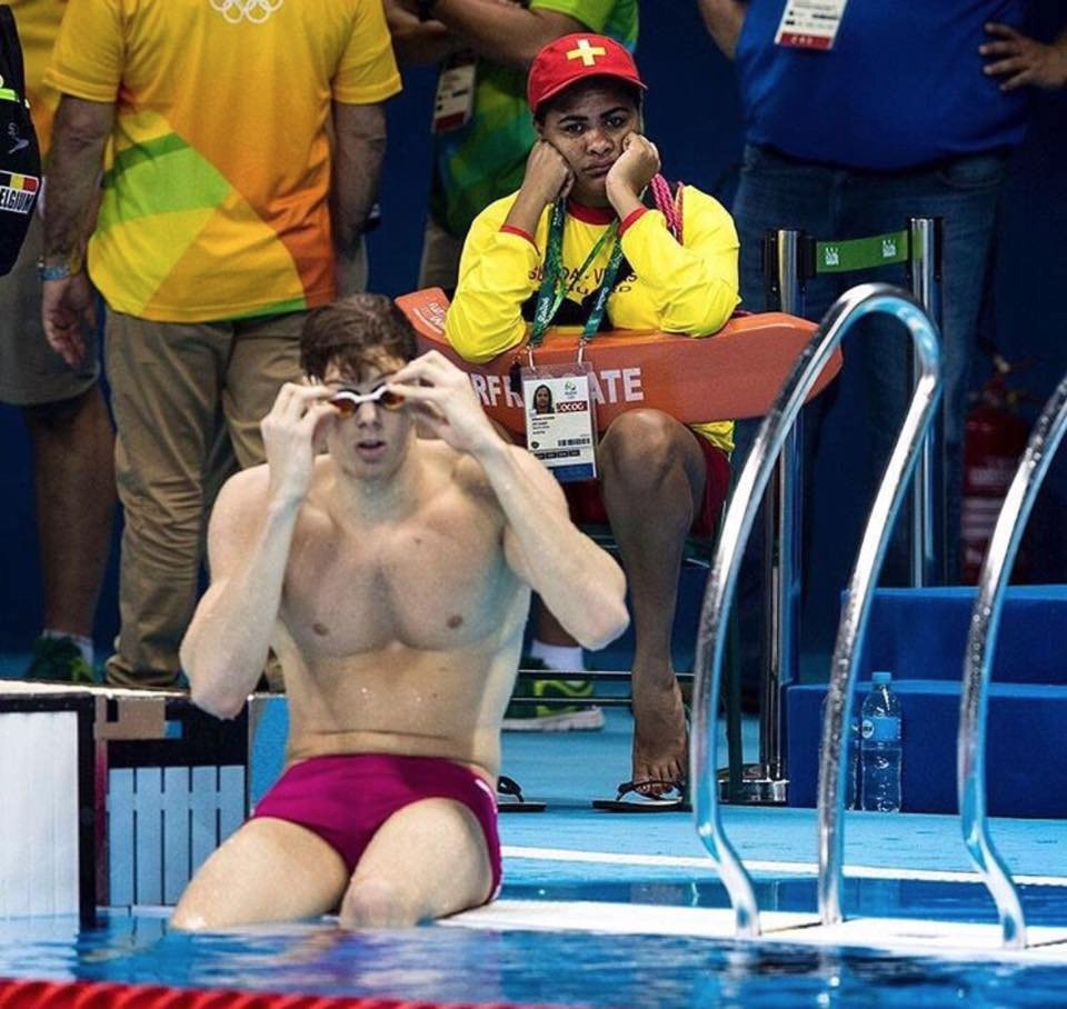 If you ever feel useless just remember that someone is a lifeguard at the olympics swimming event. Have a great week https://t.co/F2o189Yrbb