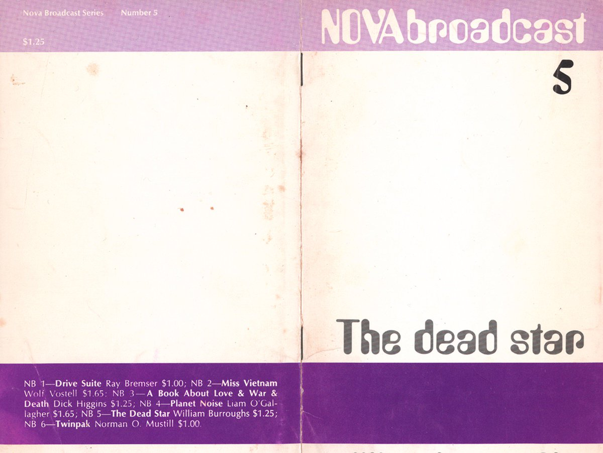 Download a wildly inventive and rare William S Burroughs cut up, The Dead Star https://t.co/N2hPfGNxT5 https://t.co/2BnKSUkvRj