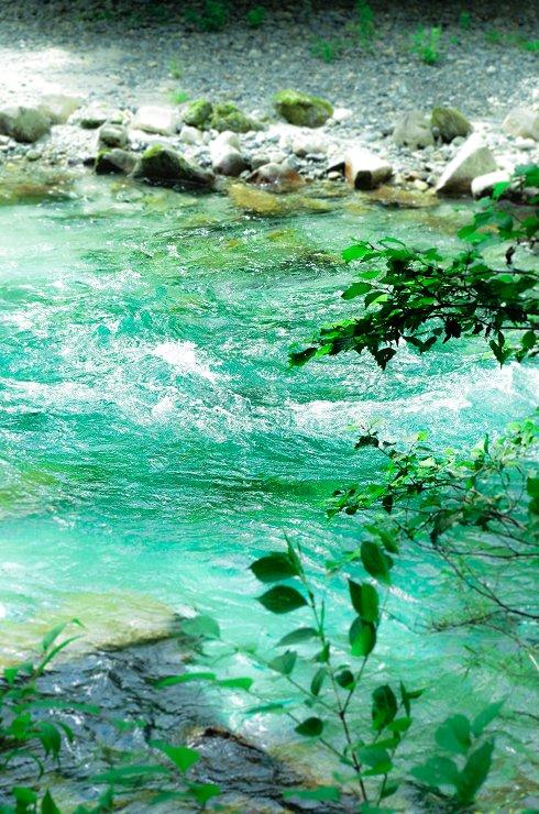 涼しそうな川