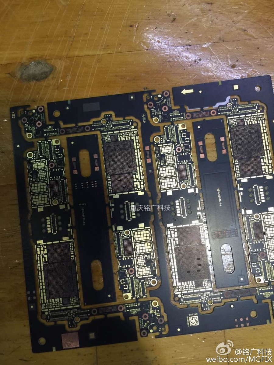 iPhone 7 logic board with Intel modem