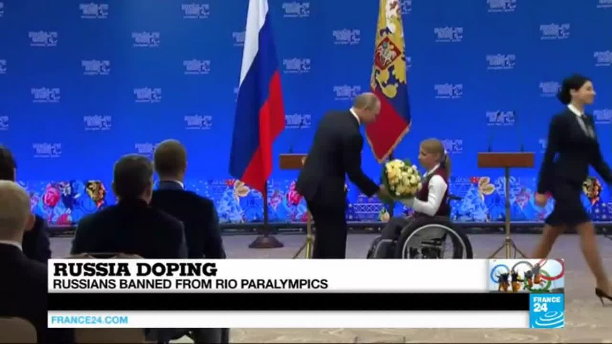 """VIDEO -  Rio 2016: Russians banned from Paralympics over doping, """"a grave human rights…"""