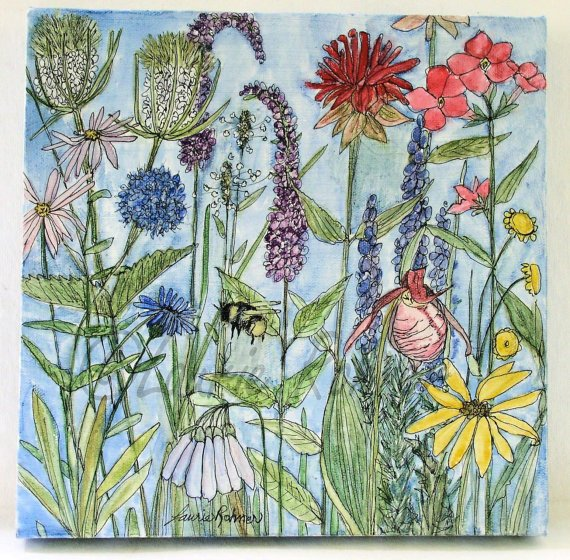 Charming #flowers painted by #BetweentheWeeds #MyPaisleyWorld More loveliness on my #blog http://mypaisleyworld.blogspot.com/
