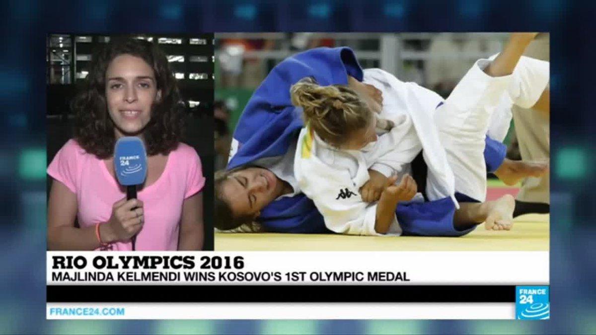 VIDEO -  Rio 2016: Majlinda Kelmendi creates history, winning Kosovo's 1st olympic medal