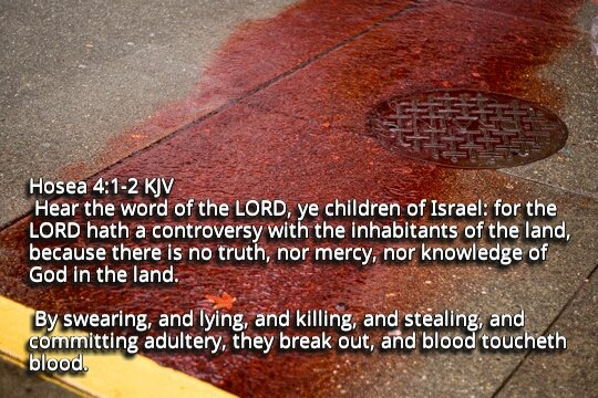 """Bible Verses KJV on Twitter: """"Hosea 4:2 KJV By swearing, and lying, and  killing, and stealing, and committing adultery, they break out, and...… """""""
