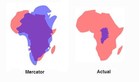 GeoGarage blog: Mercator projection : the Greenland problem