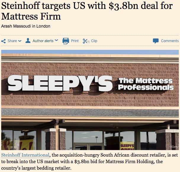 [News] Mattress Firm Holding Corp MFRM
