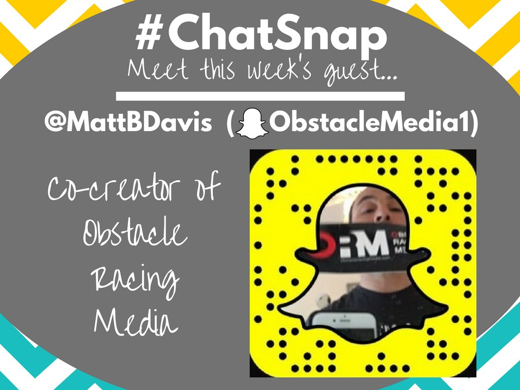 Join me in welcoming today's #ChatSnap guest, @MattBDavis! We'll be talking about #InstagramStories today... https://t.co/H69WB6vncr