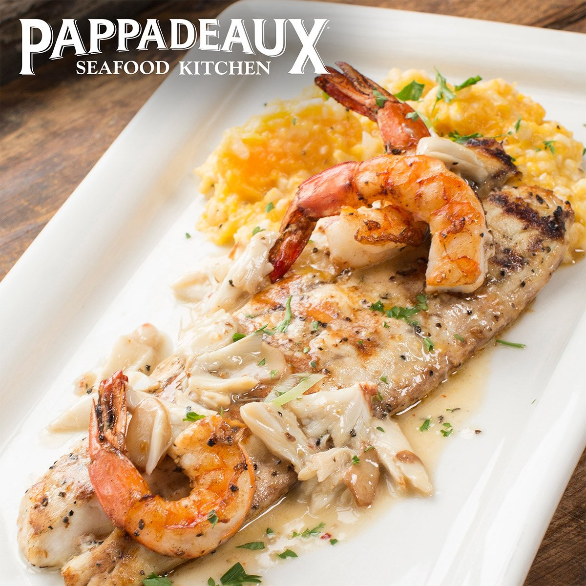 "Pappadeaux Seafood Kitchen Locations: Pappadeaux On Twitter: ""Grilled Redfish & Jumbo Shrimp For"