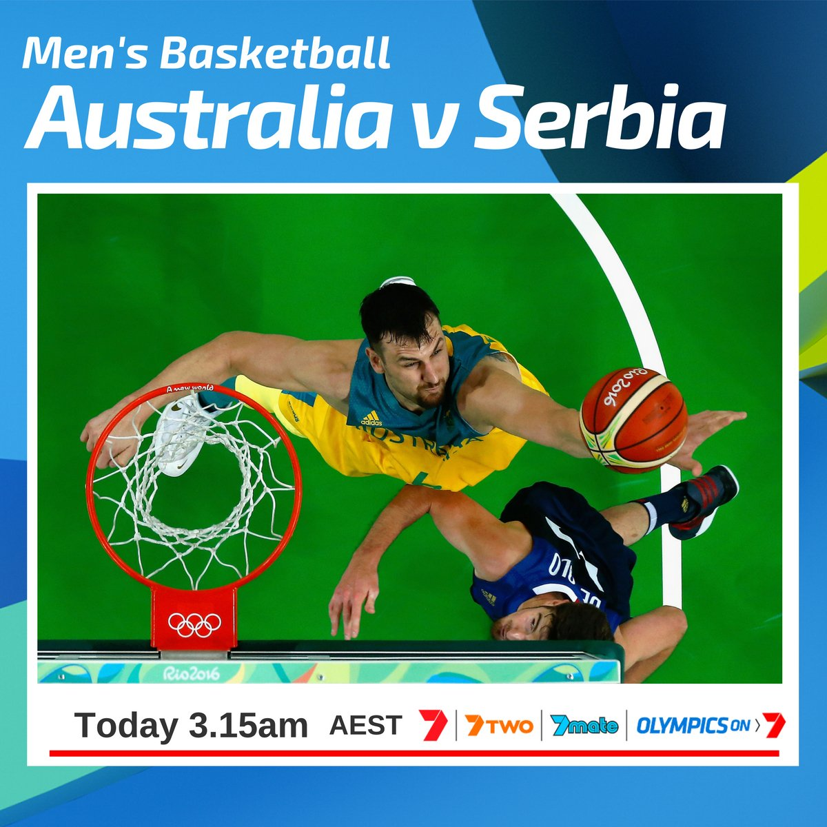Channel 7 on twitter the boomers take on serbia watch live via channel 7 on twitter the boomers take on serbia watch live via our olympics on 7 app 7olympics publicscrutiny Images