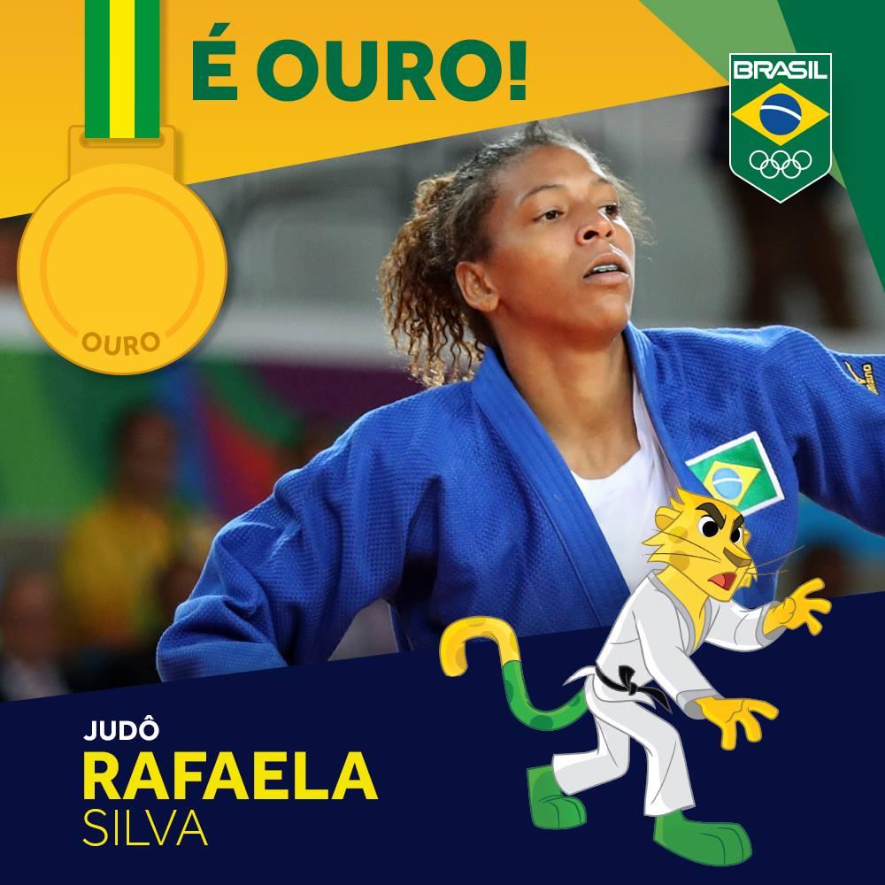 É ouro!! Com raça, @rafaelasilvaa derrota Sumiya Dorjsuren e faz história no #Judô Comemore com RT! #EuSouTimeBrasil