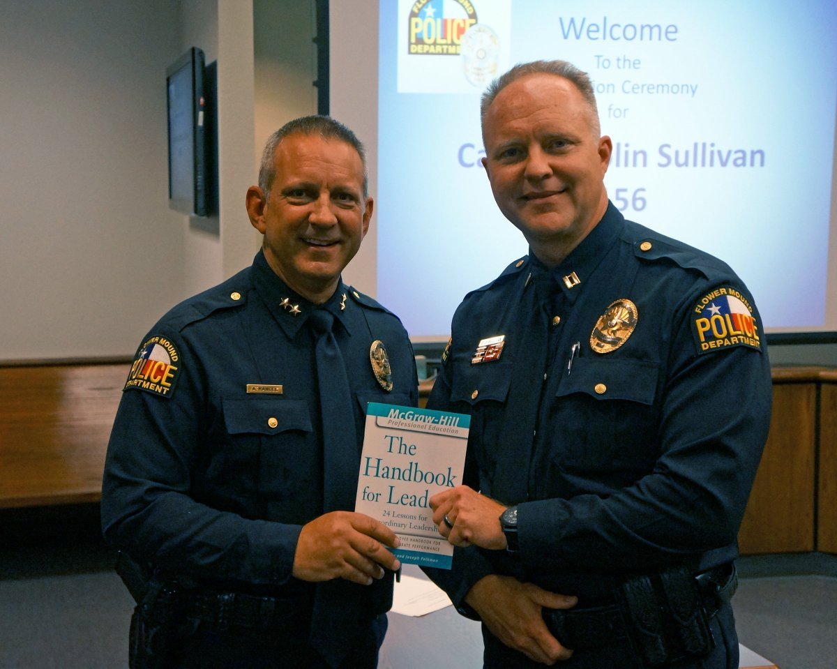 """Flower Mound PD on Twitter: """"Congratulations to 21-year Flower Mound Police veteran, Colin Sullivan, on his recent promotion to Patrol Captain.… """""""