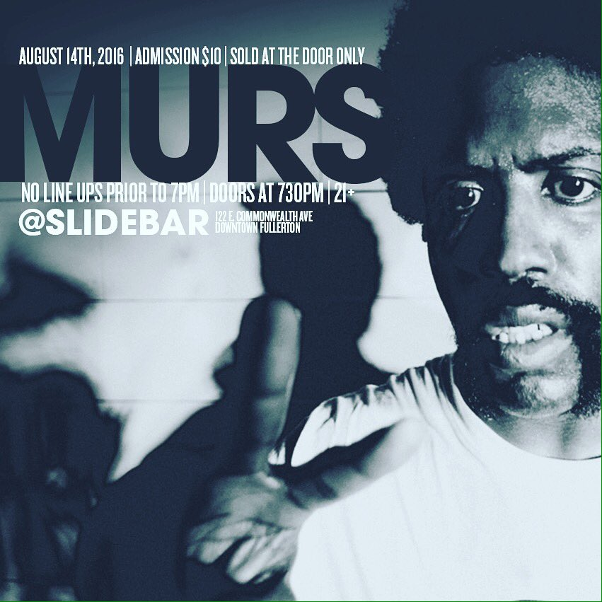Sunday. @MURS $10 at the door only. No lines up prior to 7pm. Gonna be one for the books. @LAHipHopEvents https://t.co/mvlbicg7of