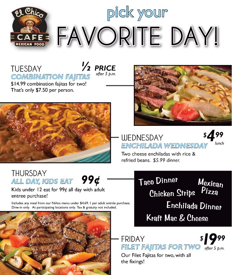 El Chico On Twitter We Have Delicious Daily Specials Tuesday